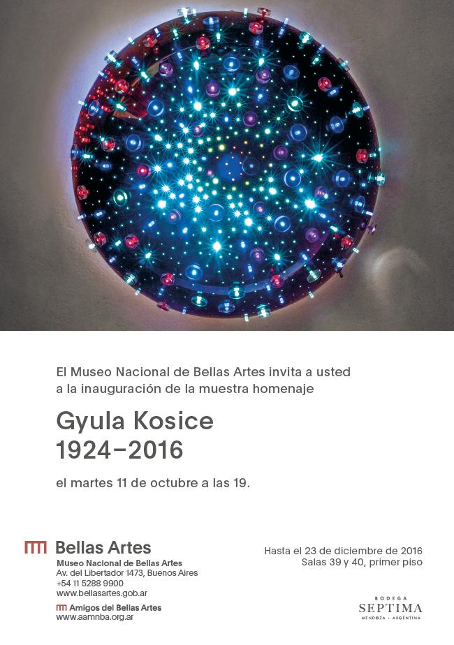 Gyula Kosice Exposición Museo Nacional de Bellas Artes