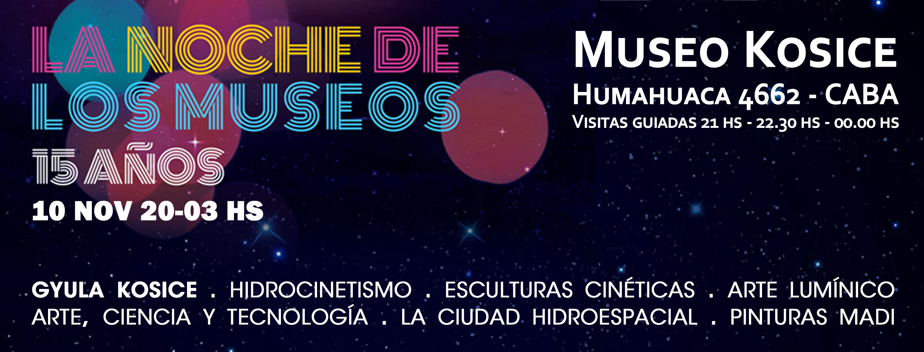 MUSEO KOSICE NOCHE DE LOS MUSEOS 2018