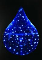 Gota de agua móvil azul y blanca