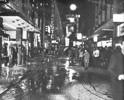 150 metros de lluvia en la calle Florida
