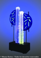 Intermitencia lumínica de LEDs y agua móvil